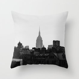 Empire State Building Manhattan in New York City Throw Pillow