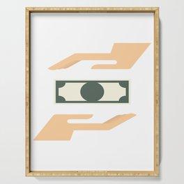 Money Transaction Serving Tray