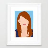 emma stone Framed Art Prints featuring Emma Stone Digital Portrait by RoarsAdams