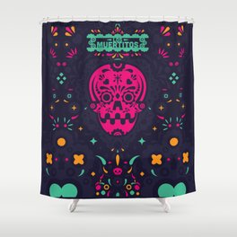 LOS MUERTITOS V01 Shower Curtain