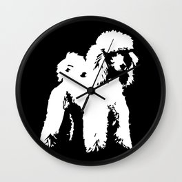PET POODLE DOG Wall Clock