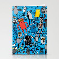 robots Stationery Cards featuring ROBOTS! by Chris Piascik