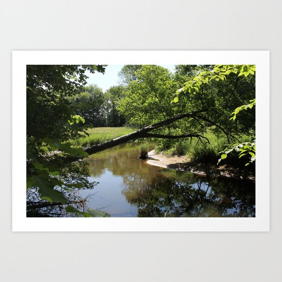A Day On The River Art Print