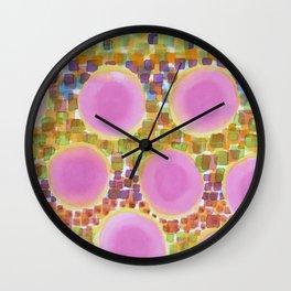 Pink Soft Circles Wall Clock