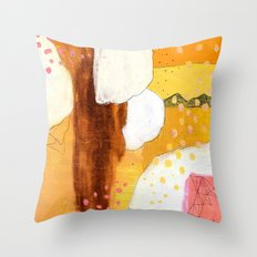 Goldish Throw Pillow