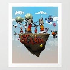 The clash Art Print