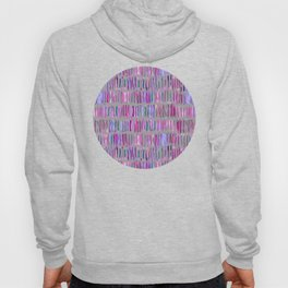 Messy Watercolor Stripes in Pink and Purple Hoody