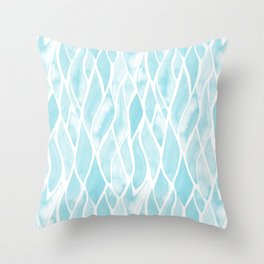 Sand Flow Pattern - Light Blue Throw Pillow