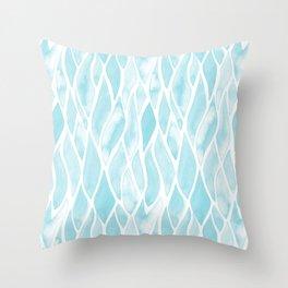 Sand Flow Pattern - Light Blue Throw Pillow