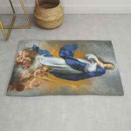"""Bartolomé Murillo """"The Immaculate Conception"""" Rug"""