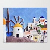 greek Canvas Prints featuring Greek island by Brian Raggatt