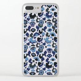 Blue khaki Clear iPhone Case