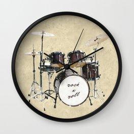 Drumkit Wall Clock