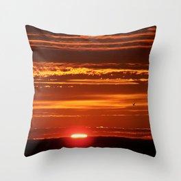 Red Sky Flight Throw Pillow