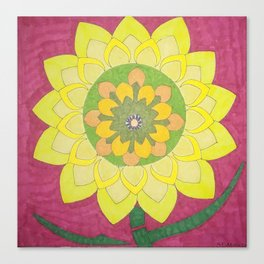 Flower of My Sun Canvas Print