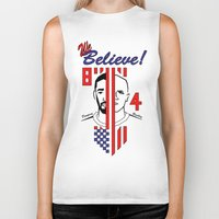 pirlo Biker Tanks featuring we believe!! by Miguel Angel Illustrations
