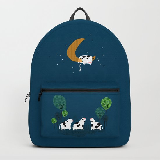 A cow jump over the moon Backpack