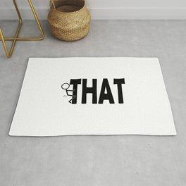Fuck THAT Humping Stickman Black Typography Sarcasm Humor Rug