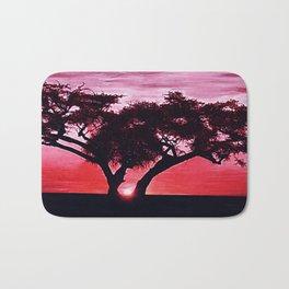 Cherry Blossom Sunset Bath Mat