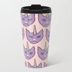 unicat - pink Metal Travel Mug