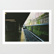 Subway Moss Art Print