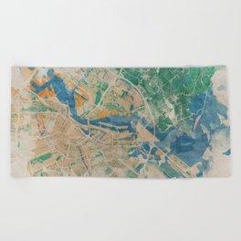 Amsterdam, the watercolor beauty Beach Towel