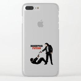 Reservoir Fiction Clear iPhone Case