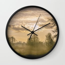 Sunrise in Woodburn Wall Clock