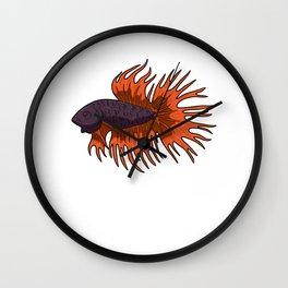 Betta Splendens Siamese Fighting Fish Aquarium Wall Clock