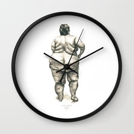Woman in Shower Wall Clock