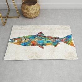 Fish Art Print - Colorful Salmon - By Sharon Cummings Rug