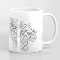 skyrim Mugs featuring Dragonborn (Skyrim) by  Steve Wade ( Swade)