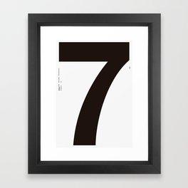 Nº7. Helvetica Posters by empatía® Framed Art Print