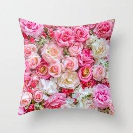 Pink & Red Roses Deko-Kissen