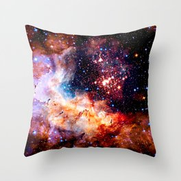 Cosmic Connection 2 galaxy space nebula stars universe Throw Pillow