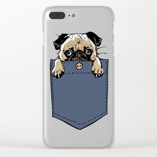 Pugturday Clear iPhone Case