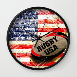 American Rugby Wall Clock