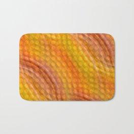 Pattern orange Bath Mat
