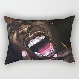 asap,rapper,poster,wall art,fan art,music,hiphop,rap,testing,print Rectangular Pillow