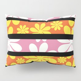 Floral stripes Pillow Sham