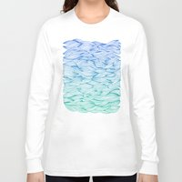 waves Long Sleeve T-shirts featuring Ombré Waves by Cat Coquillette