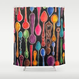 A Spoonful of Colour Shower Curtain