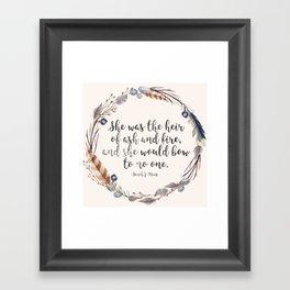 Heir of Ash and Fire Framed Art Print
