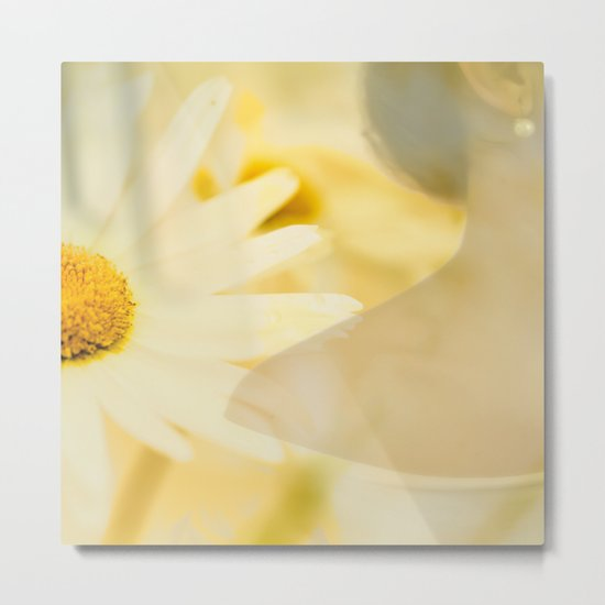 Daisy and Pearl Metal Print