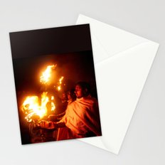 Fire on the Ganga River Stationery Cards
