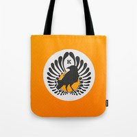 volleyball Tote Bags featuring Karasuno High Volleyball Club by robin
