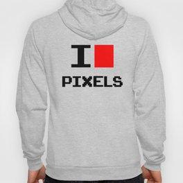 I Love Pixels, nerd t shirt, geek poster, Hoody