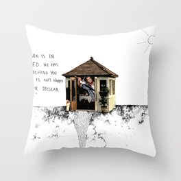 Mel Gibson is in your shed Throw Pillow
