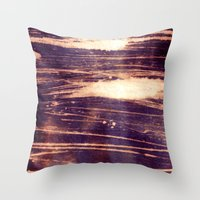 bleach Throw Pillows featuring bleach scruffily / wet by seb mcnulty