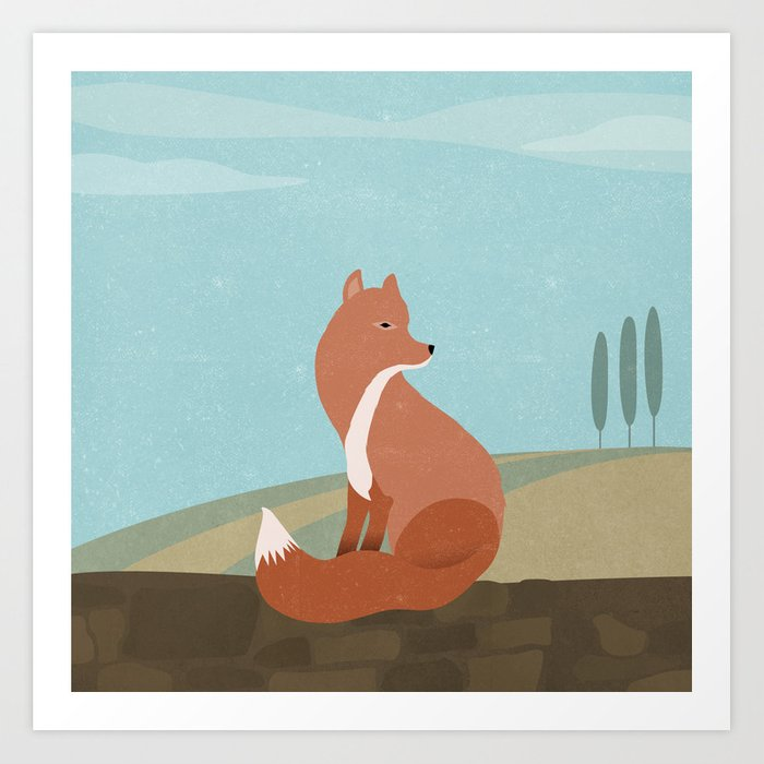 F is for Fox Art Print